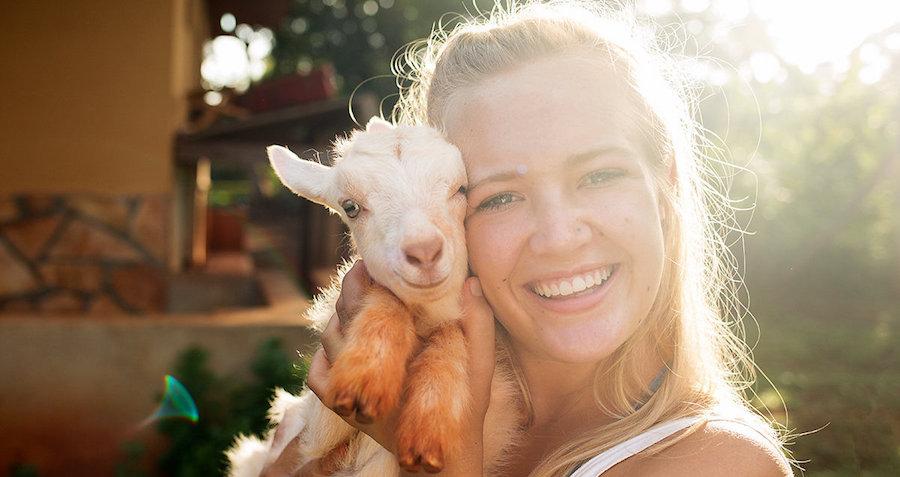 Katie & goat